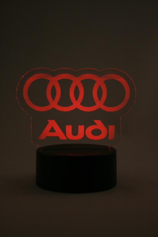 Audi logo led lamp