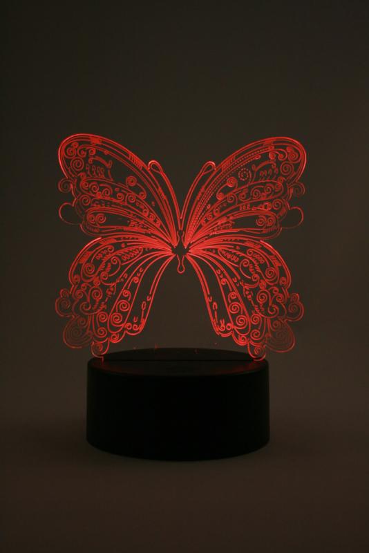Vlinder led lamp