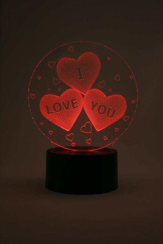 I love you led lamp type 1