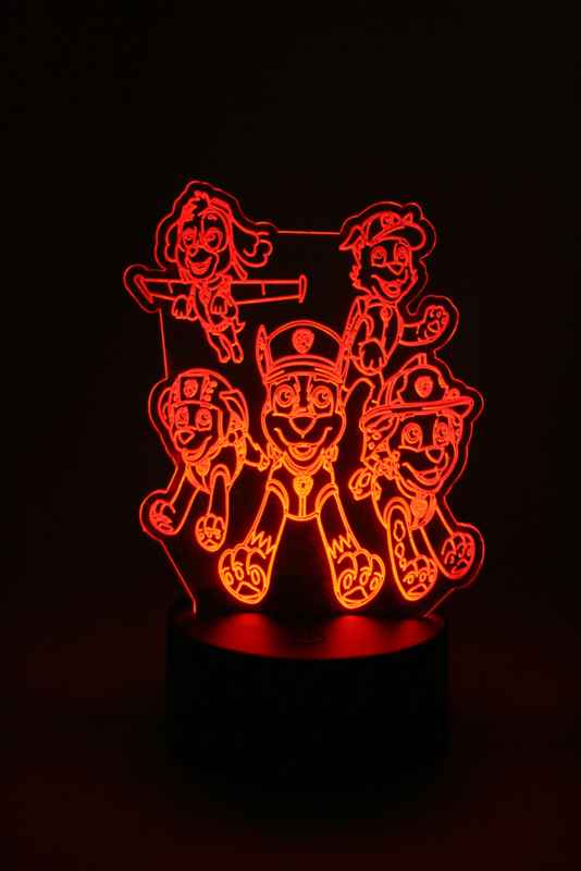 Paw patrol led lamp