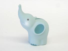 mini-spaarpot  Olifant - lichtblauw