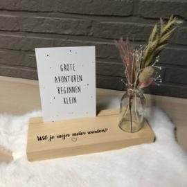 memoryplankje - droogbloemen