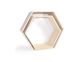 Set van 2 zeshoeken