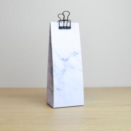 Hoog zakje - marmer blauw