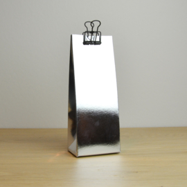 Hoog zakje - folie zilver