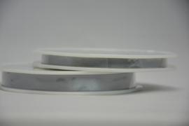 satijn lint - zilver