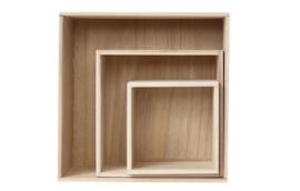 Set van 3 kubussen