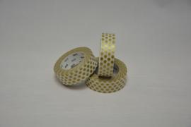 washi - bolletjes goud mat