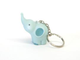Sleutelhanger Olifant - lichtblauw