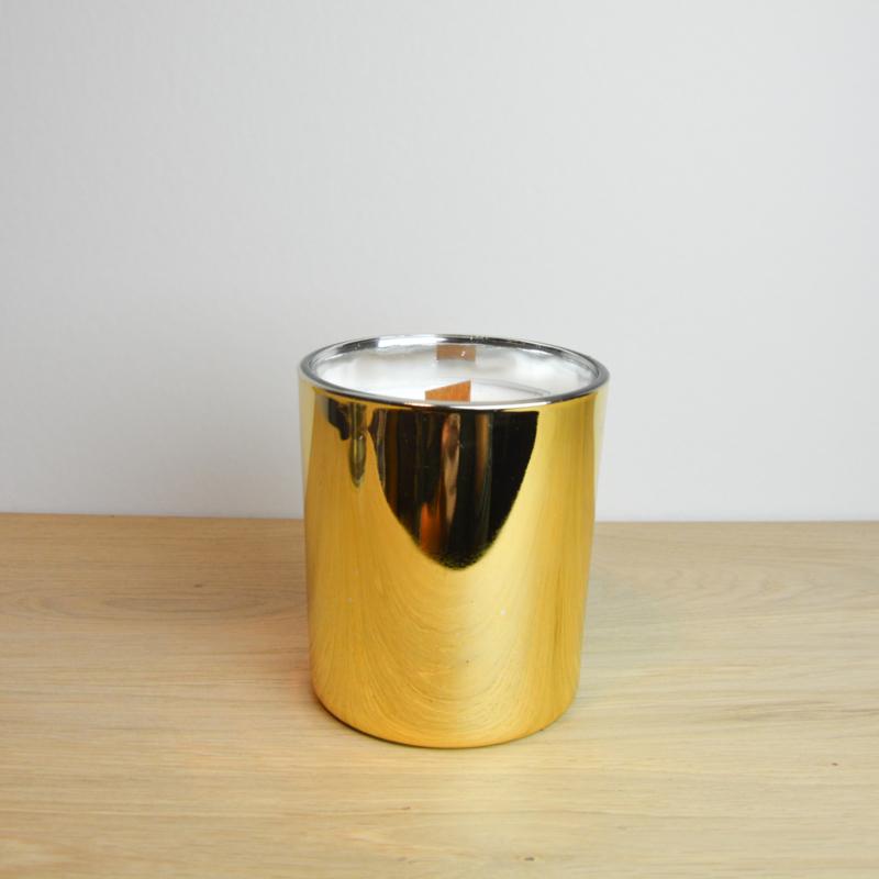 Kaars medium goud