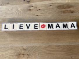 Letterkaarsjes in verpakking: LIEVE MAMA