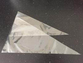 Puntzak transparant klein 18x37 cm