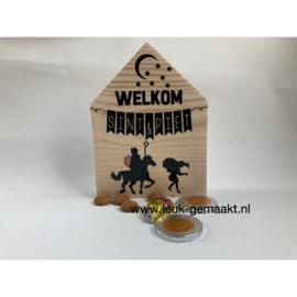 Houten huisje Welkom Sint&Piet