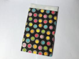 Papieren zakje gekleurde stippen, 12x19 cm per stuk