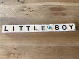 Letterkaarsjes in verpakking: LITTLE BOY