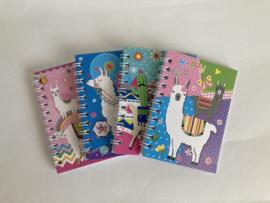 Alpacatraktatie met notitieboekje