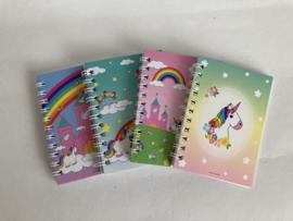 Unicorntraktatie met notitieboekje