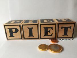 Houten blokken Sint of Piet