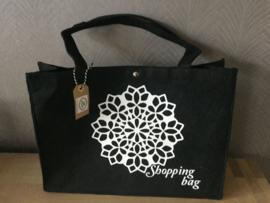 Vilten tas zwart groot