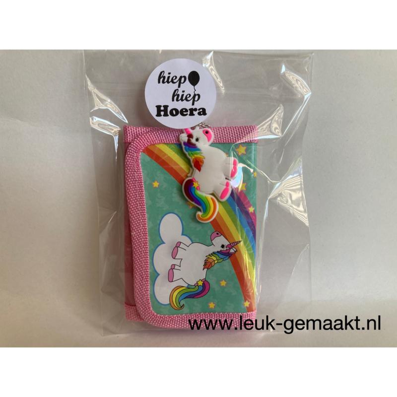 Unicorntraktatie met portemonnee