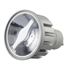 LED GU10 Zilver 5 Watt COB 2700K 24° CRI>92