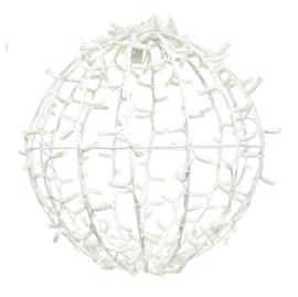 3D Ball 50cm wit snoer WW+twinkel