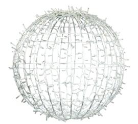 3D Ball 80cm wit snoer WW+twinkel