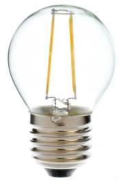 LED Filament lamp G45 2 Watt Warm Wit 2700K