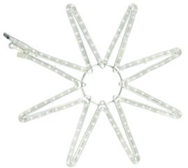 8 point star koel wit