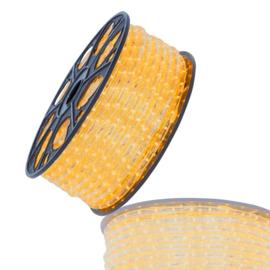 Led lichtslang 50mtr warm wit 230V amber/geel