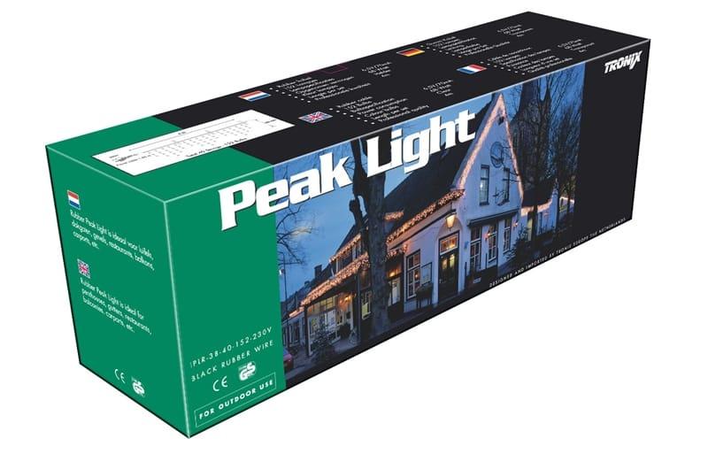 Peak Light Traditional | 4m x 40cm | black cable | IP44