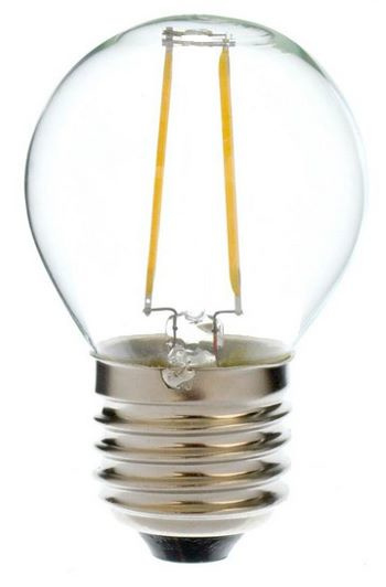 LED Filament lamp G45 2 Watt Wit 6000K
