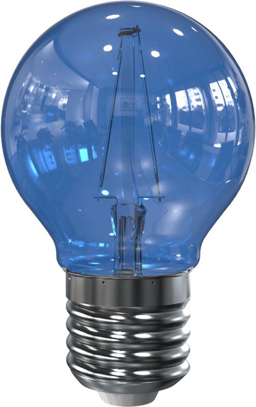 LED Filament lamp G45 2 Watt Blauw