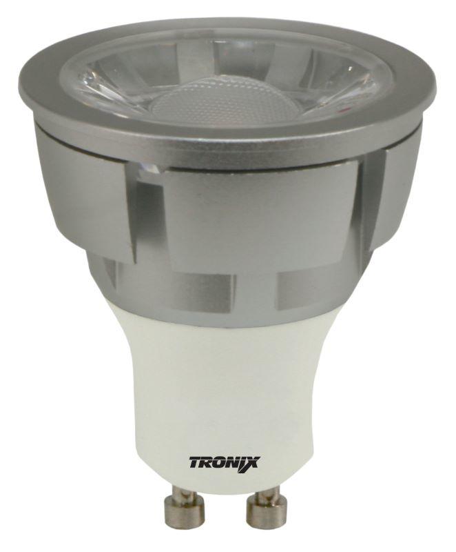 LED GU-10 Zilver 5 Watt COB 4000K 40° Dimbaar