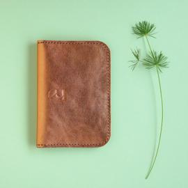leather card sleeve