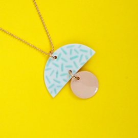 porcelain necklace Leona
