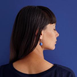 porcelain earrings drops circle