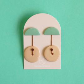 porcelain earrings Ombrello