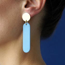 porcelain earrings Yuki