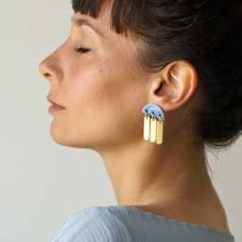 porcelain earrings Pluie