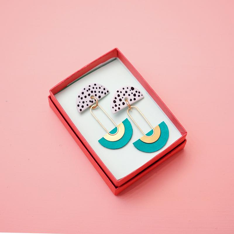 porcelain earrings Eclipse