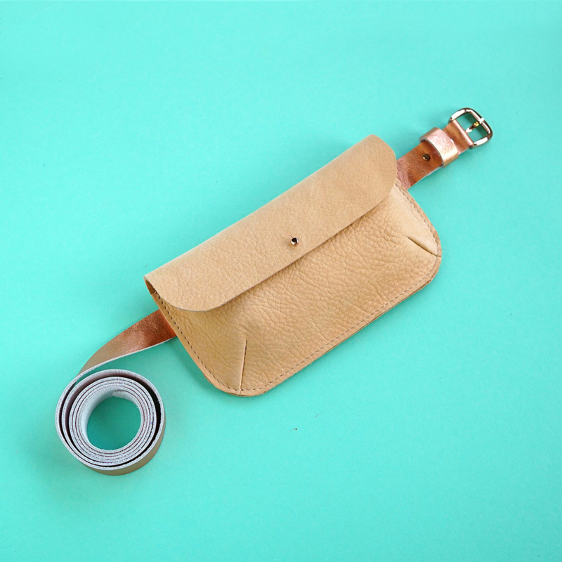 leather belt with fanny pack
