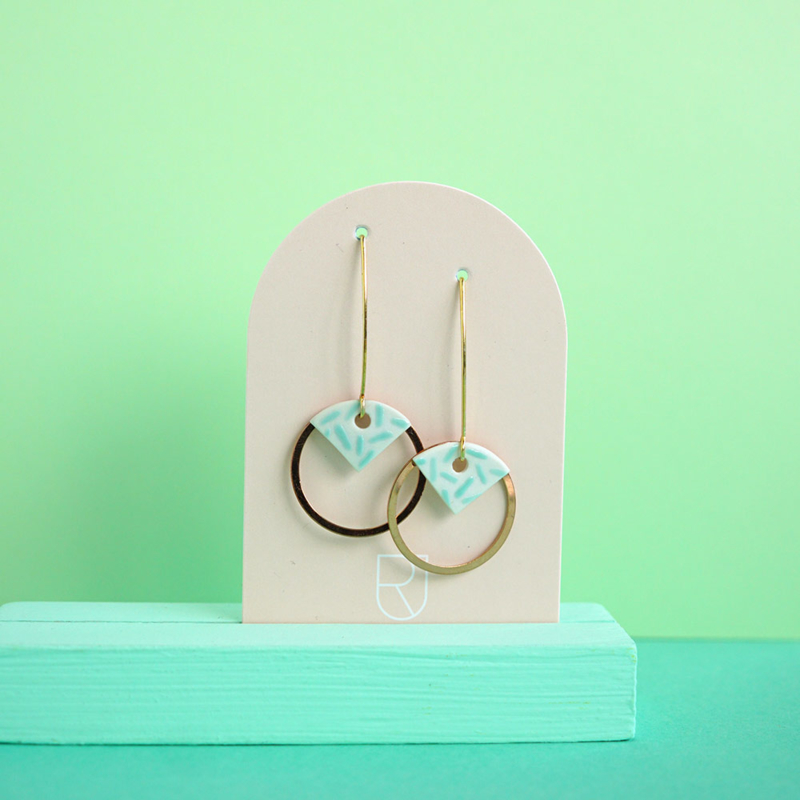 porcelain earrings Circle