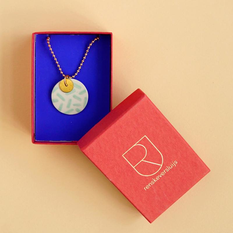 Porcelain necklace Ursula