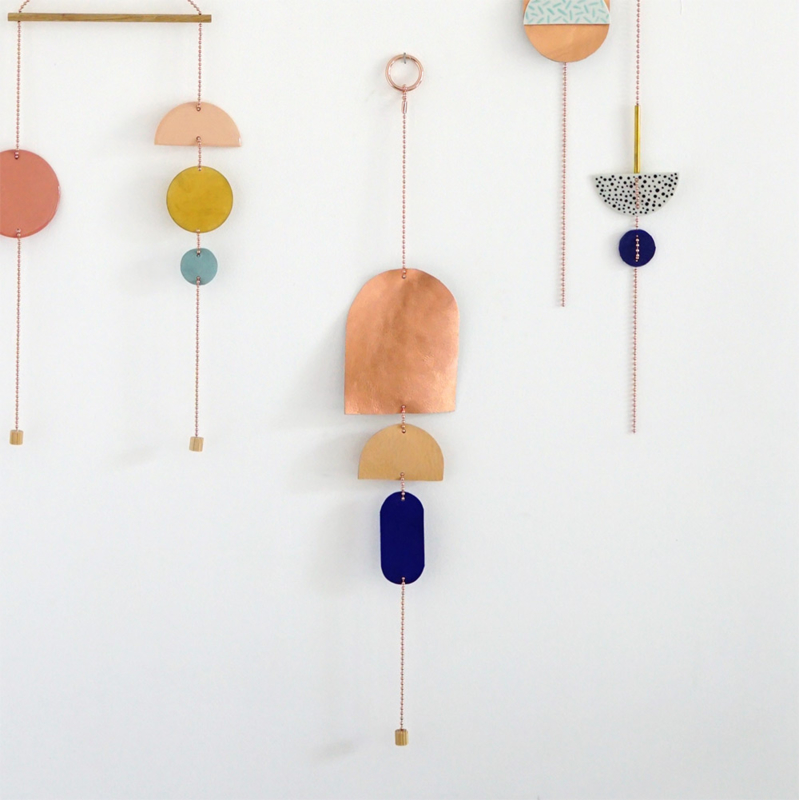 porcelain wall jewelry Tre colore
