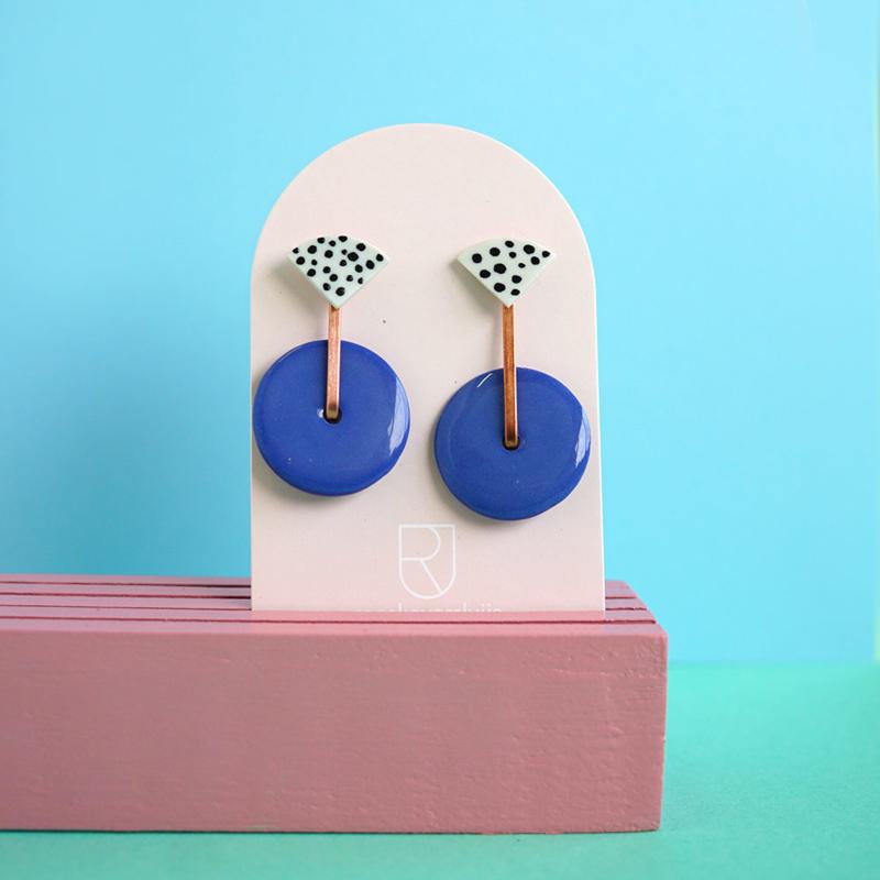 porcelain earrings Jolie
