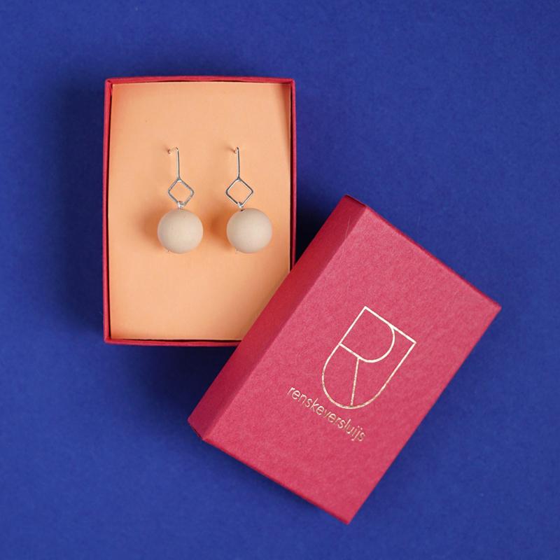 porcelain earrings drops cube