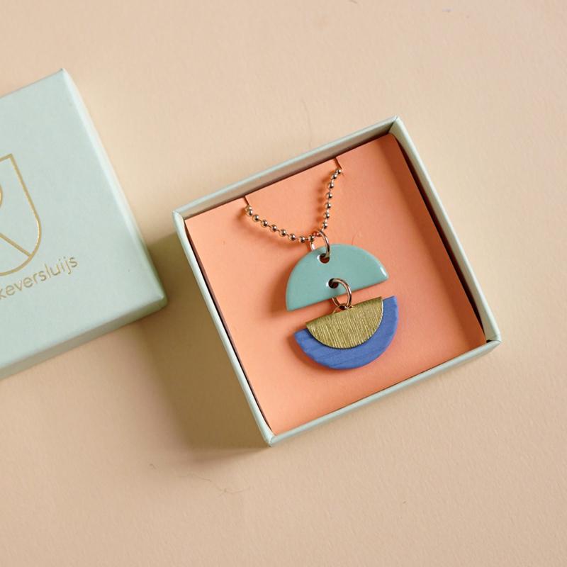 porcelain necklace Pavone