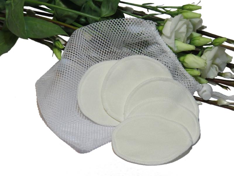 Ecologische make-up pads van bamboofleece