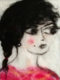 "Wolschilderij ""Shirin"""